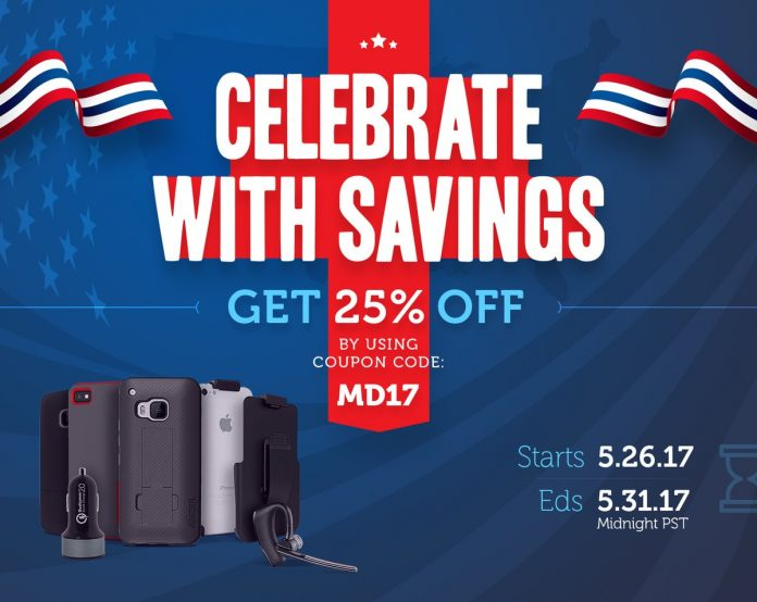 Red, white and blue sale: Save 25% on Android accessories!
