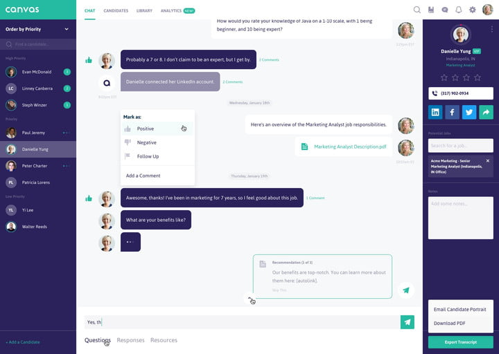 canvas app news chat  share candidate