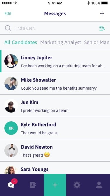 canvas app news chat  candidates