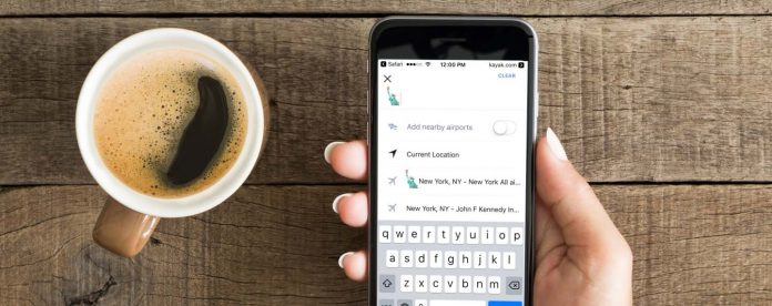 Use emoji to search Kayak for travel deals