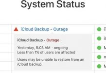 Apple's iCloud Backup Service Experiencing Outage