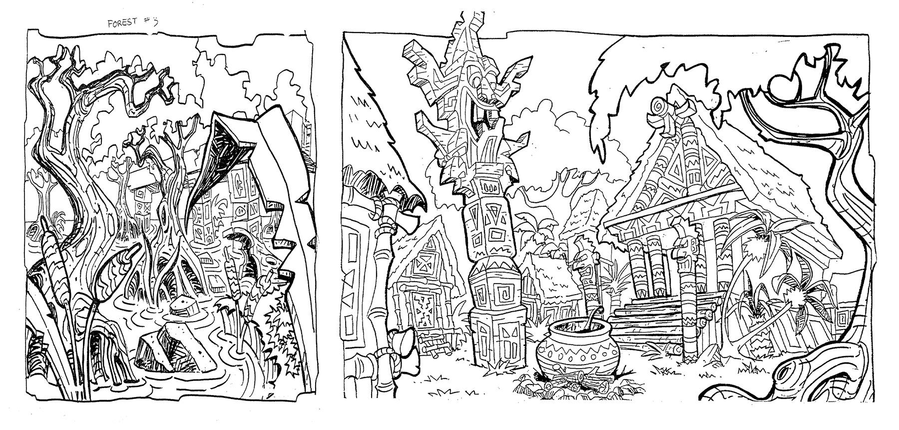 Sketches-ForestVillage-Diptych.jpg