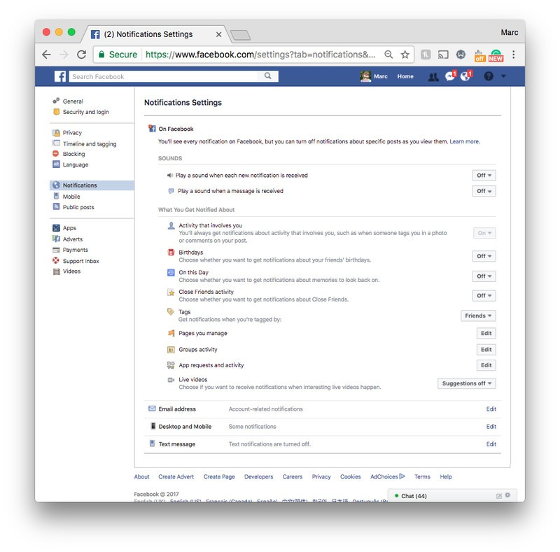 How to stop Facebook and Instagram notifications from