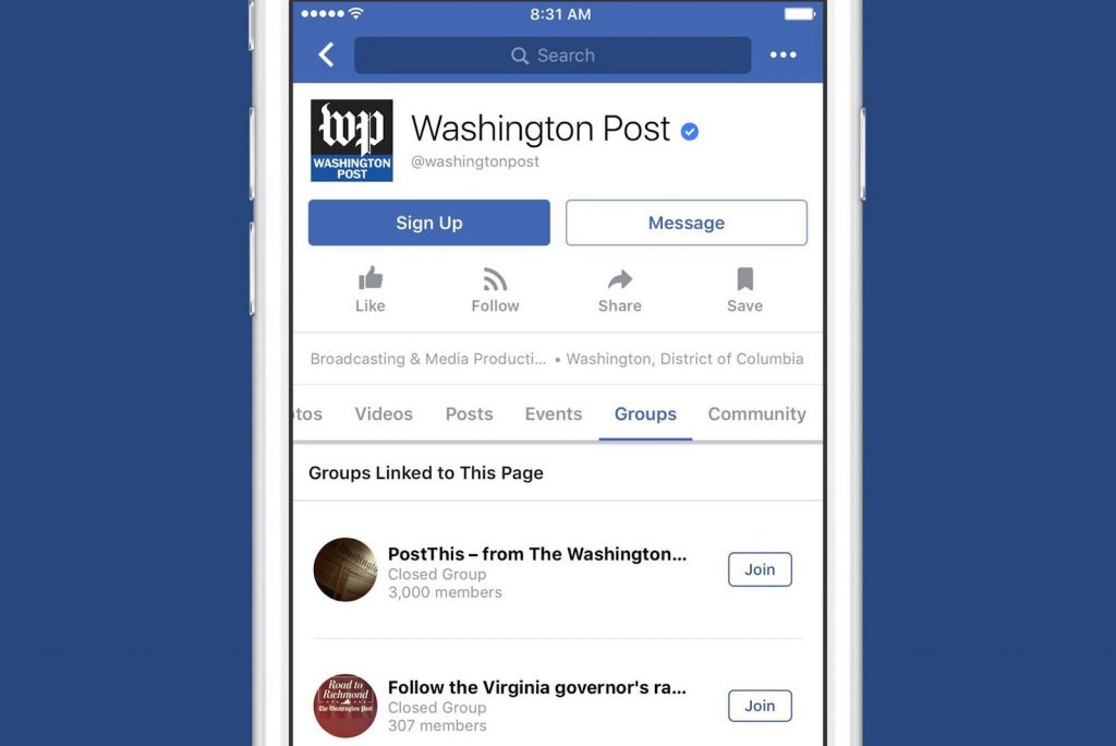 Facebook Pages can now build their own communities