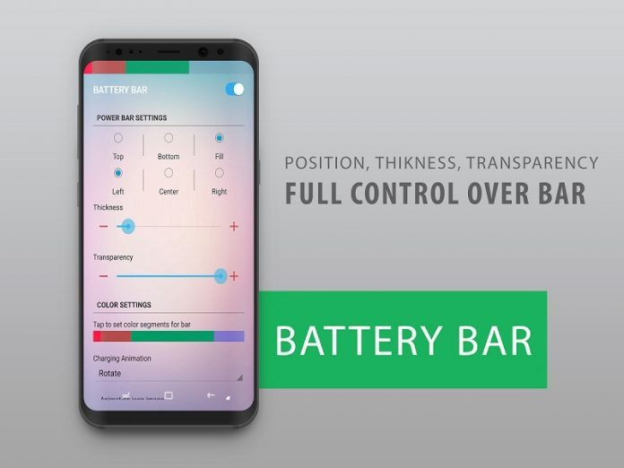 Battery Bar turns checking your phone's battery into a colorful experience (Review)