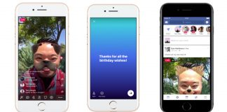 Facebook Camera adds GIFs, colorful text and the ability to go live