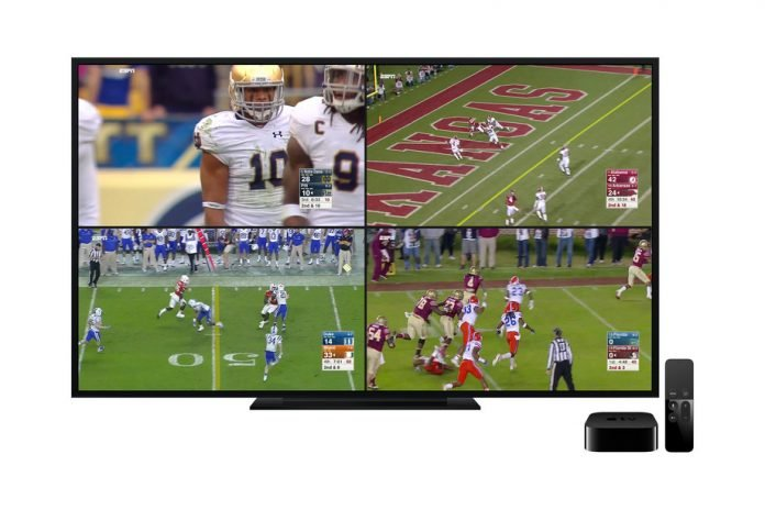 ESPN's Apple TV app streams four live feeds at once