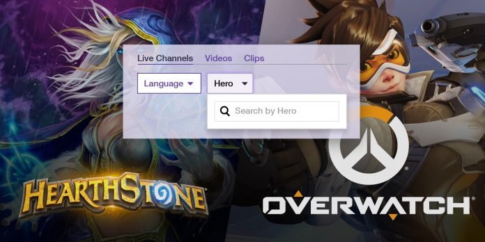 Twitch can filter streamers by their 'Overwatch' hero of choice
