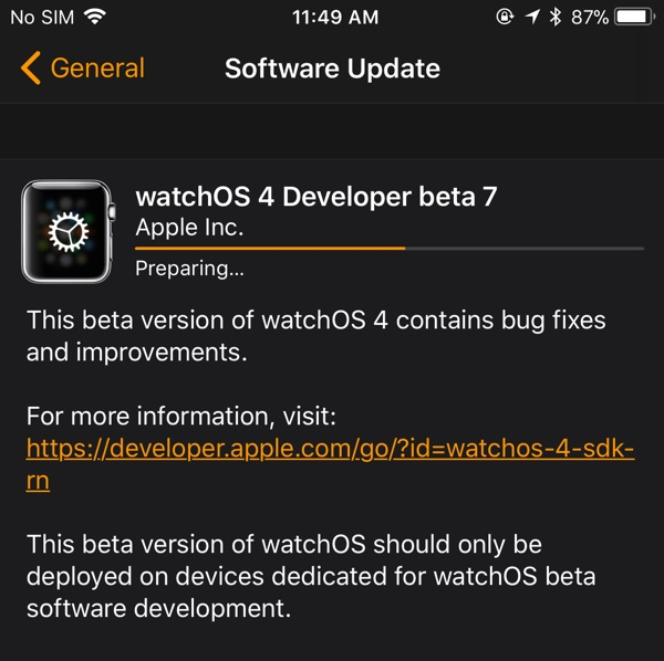 Apple Seeds Seventh Beta of New watchOS 4 Operating System to Developers
