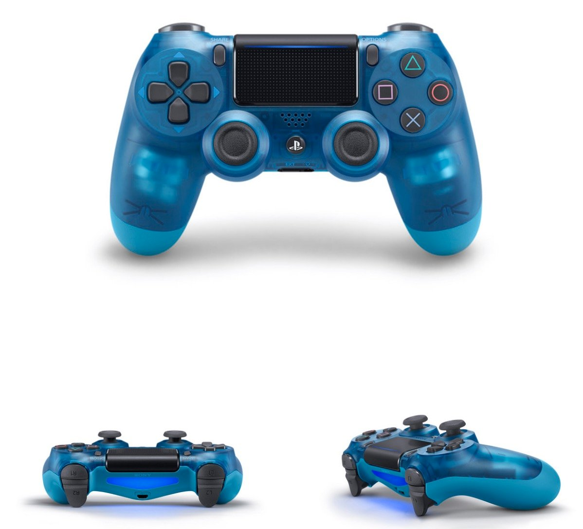 Sony's new 'Crystal' DualShock 4s are red, white and blue ...