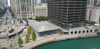 Apple's Beautiful Chicago River Store Opens October 20
