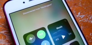 iOS 11's Control Center buttons don't fully turn off Bluetooth or WiFi