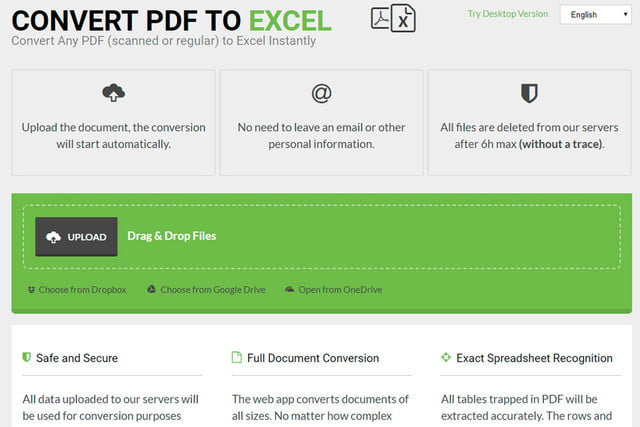 how to make a pdf file into an excel document