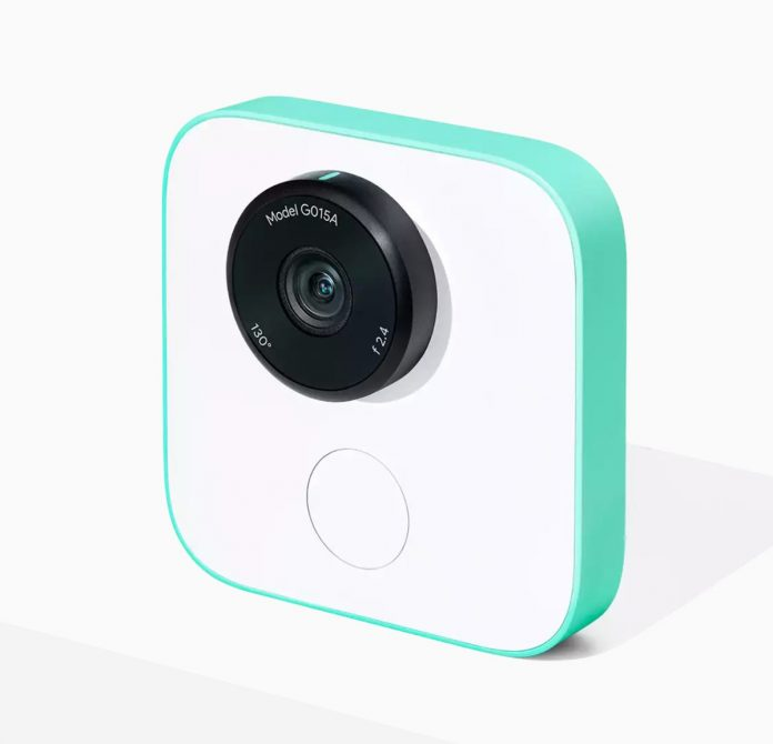 This is the Google Clips, a camera that uses AI to take photos