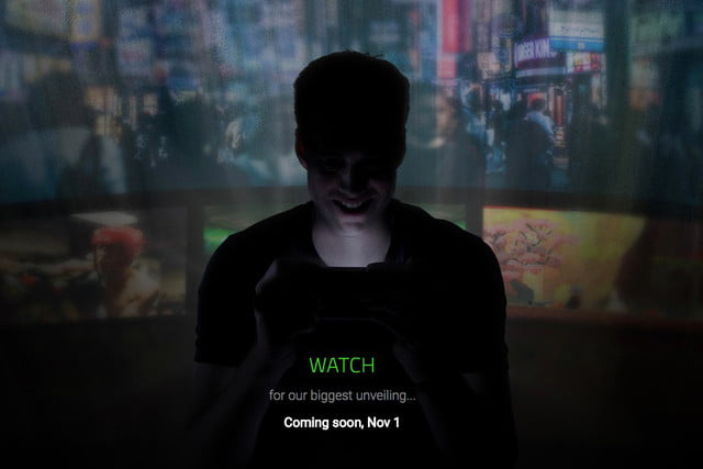 Razer posts teaser for its first smartphone, coming November 1