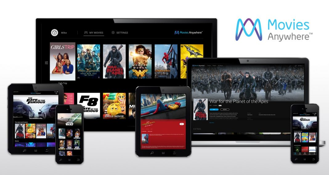 Disney connects Movies Anywhere to four other major studios