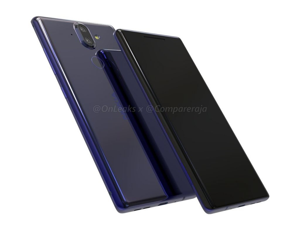 Nokia 9 CAD renders reveal a curved design, dual cameras, and no 3.5mm jack