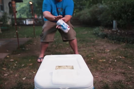 Cooler Cannon is the can-tossing cooler you've been waiting for