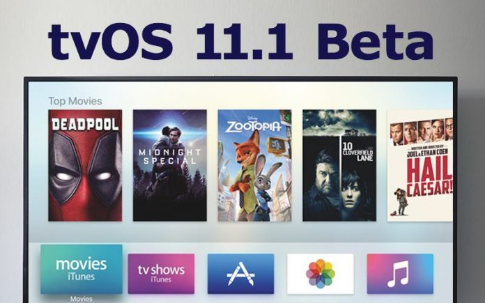 Apple Seeds Third Beta of tvOS 11.1 to Developers