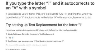 Apple Recommends Temporary Workaround for Autocorrect Bug in iOS 11.1