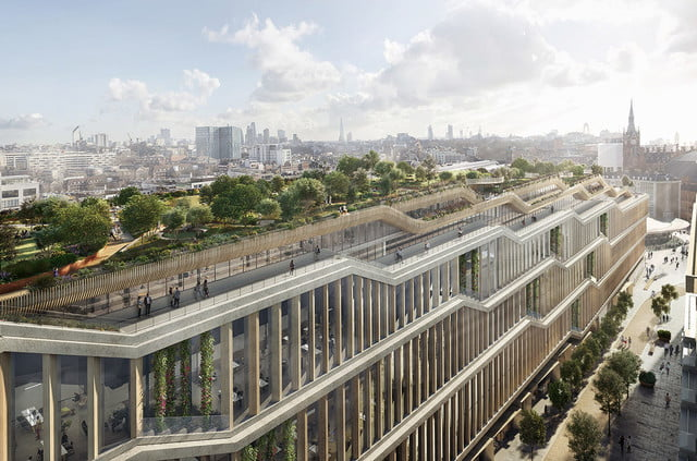 Google finally breaks ground on its impressive 'landscraper' campus in London