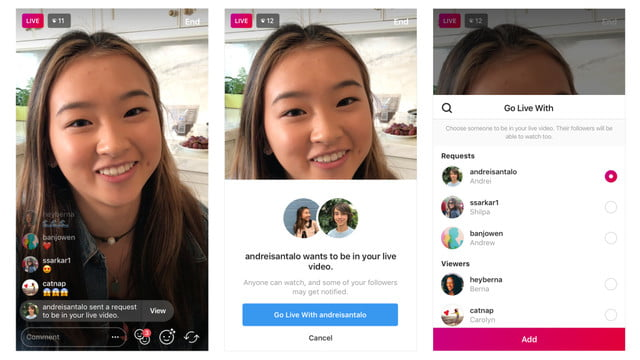 Want to chime in? Viewers can now ask to join any Instagram live-stream