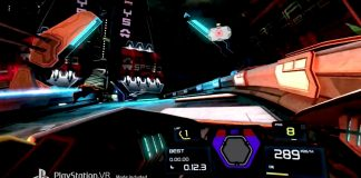 Try not to puke while playing 'Wipeout' in VR next year