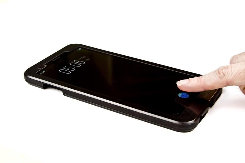 customer-phone-Synaptics-Clear-ID-press-