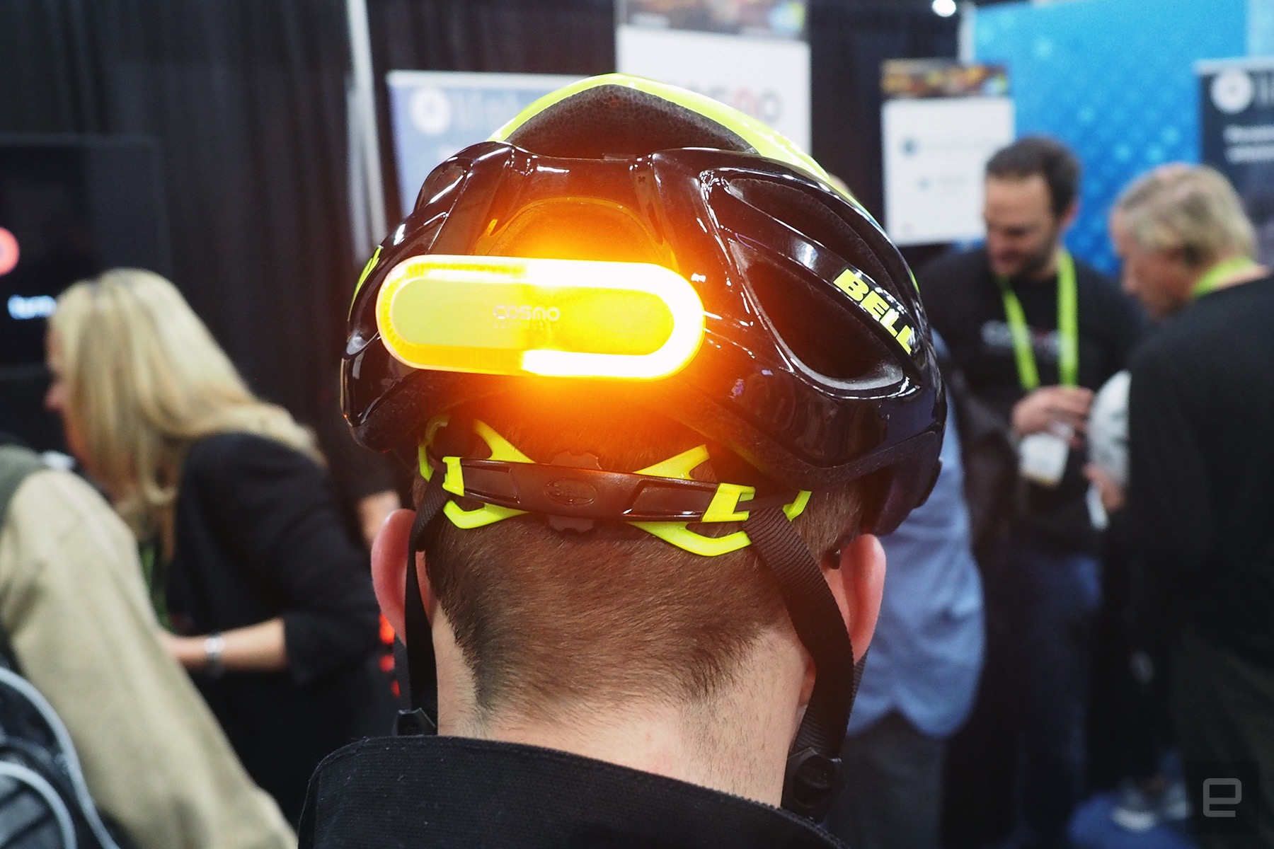 Cosmo's bike helmet light will alert others when you fall ...