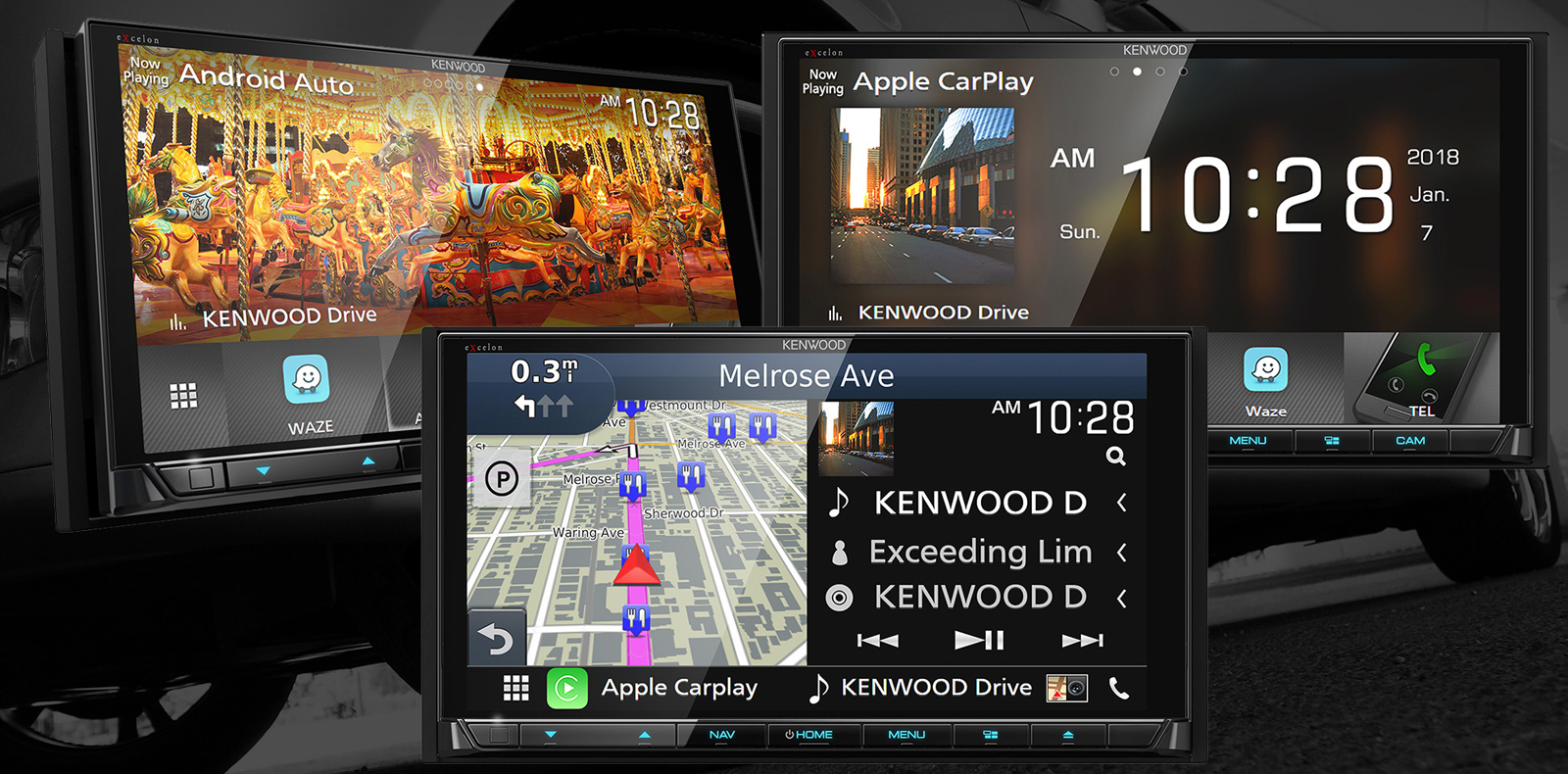 Kenwood's 2018 head units