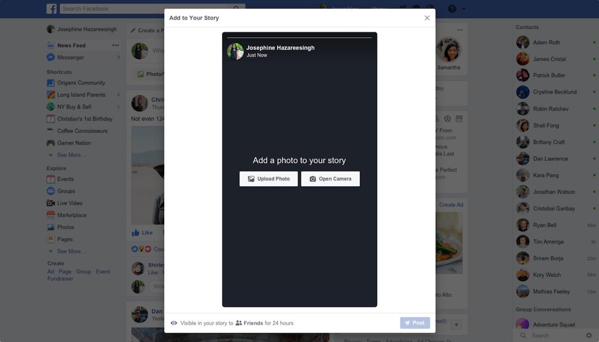 how to change facebook to desktop format