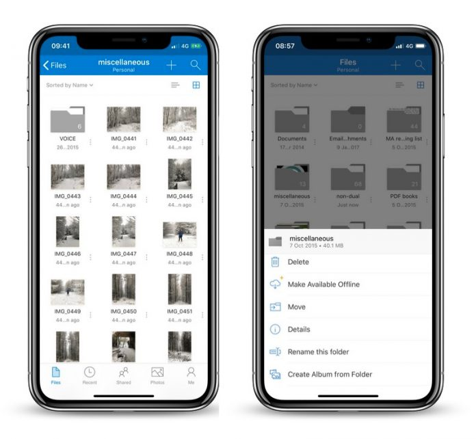 OneDrive for iOS Updated With Redesigned Interface, Drag and Drop, and Files App Support