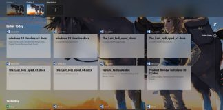 How to use Windows Timeline