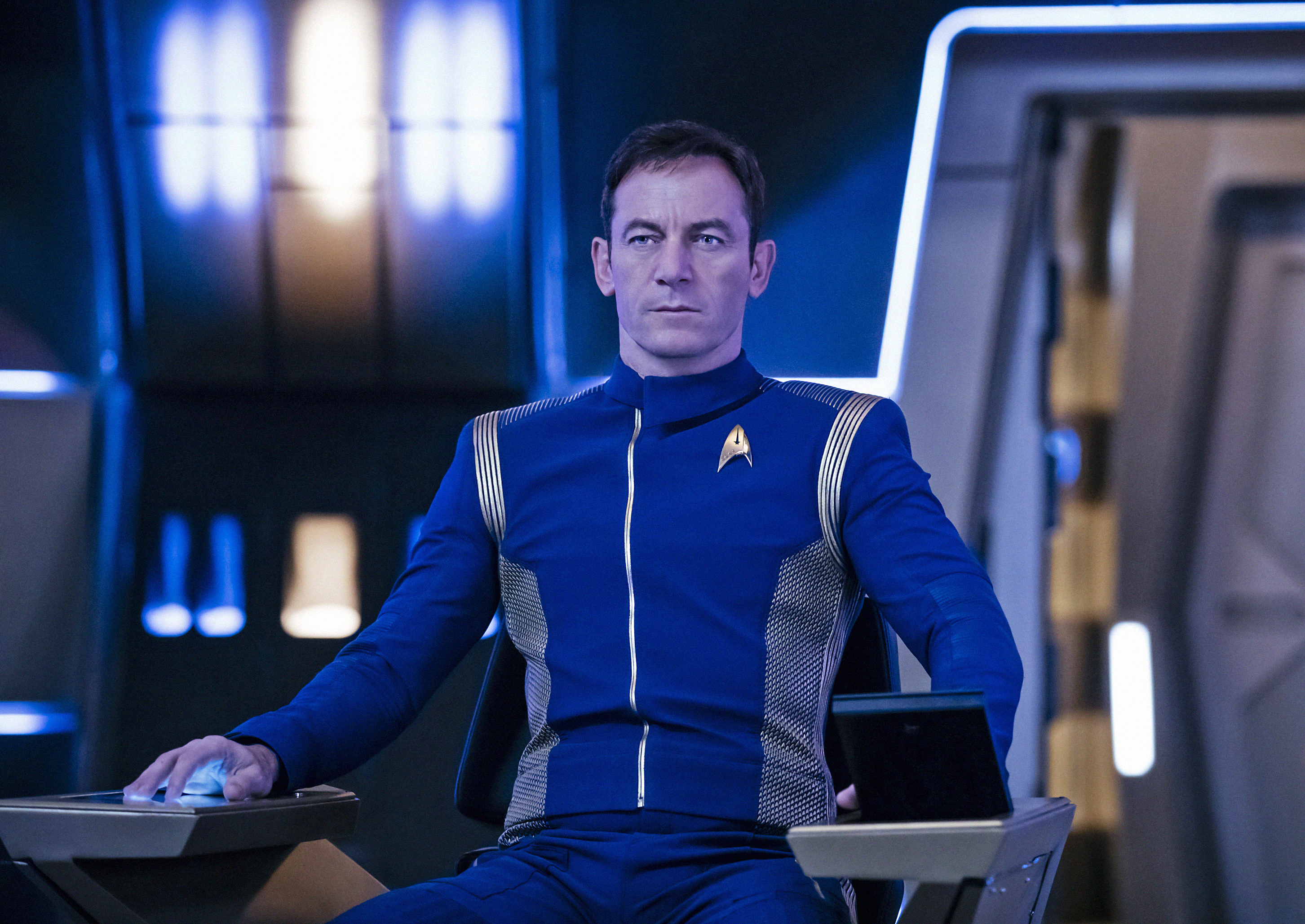 Pictured: Jason Isaacs as Captain Gabriel Lorca. STAR TREK: DISCOVERY coming to CBS All Access.  Photo Cr: Jan Thijs  � 2017 CBS Interactive. All Rights Reserved.