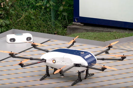 Airbus's delivery drone takes packages to 'parcel stations' run by robots
