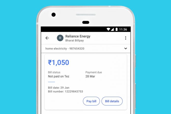 Google's Indian mobile money app can pay bills in a few taps