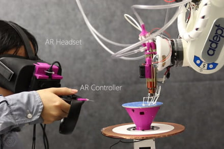 Robotic 3D printer uses augmented reality to fabricate designs as they're created