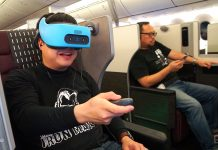 Flying with a VR headset isn't as dorky as it sounds