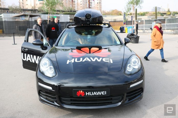 Huawei made a Porsche slightly autonomous with a smartphone