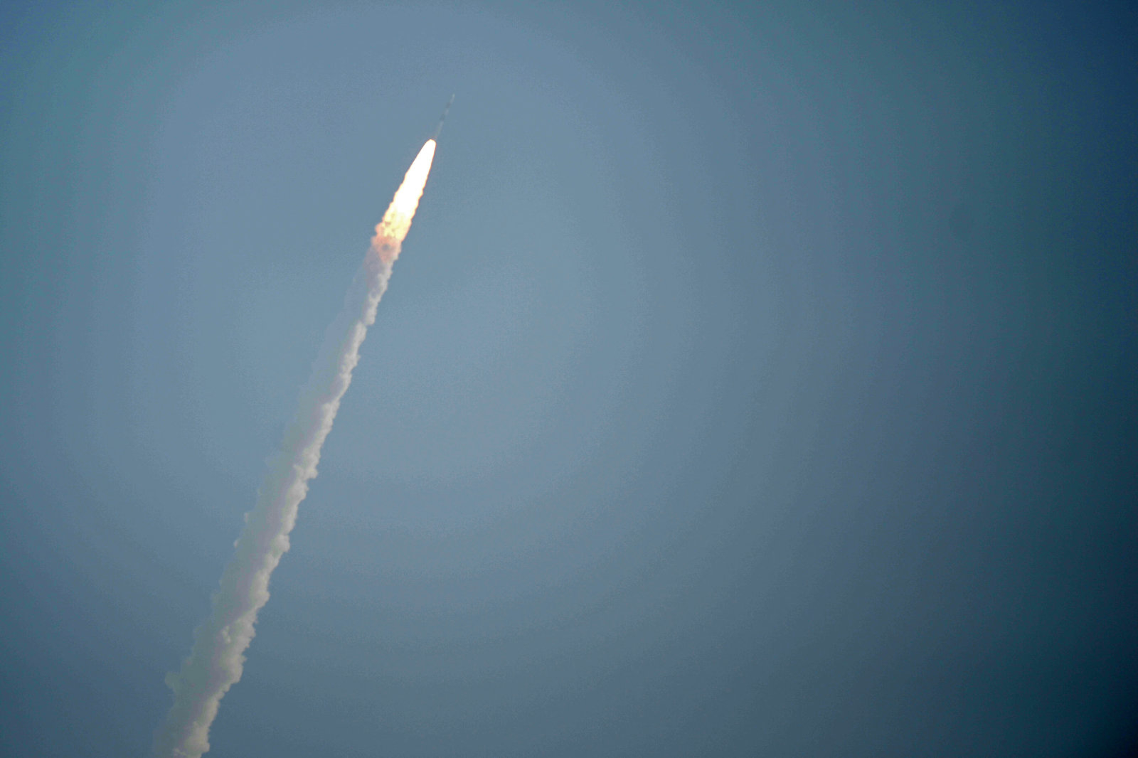 The Indian Space Research Organisation's (ISRO) earth observation satellite CARTOSAT -2, onboard the Polar Satellite Launch Vehicle (PSLV-C40) along with 28 satellites from six foreign countries including the US, France, Finland, South and Canada, launches at Satish dawan space center in Sriharikota in the state of Andhra Pradesh on January 12, 2018.India's Indian Space Research Organisation's (ISRO) launches its 100th satellite. / AFP PHOTO / ARUN SANKAR        (Photo credit should read ARUN SANKAR/AFP/Getty Images)