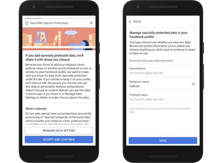 Facebook Prepares for Europe's General Data Protection Regulation With 'New Privacy Experiences'