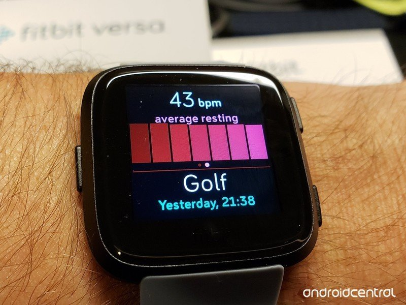 how to set sync options on fitbit versa