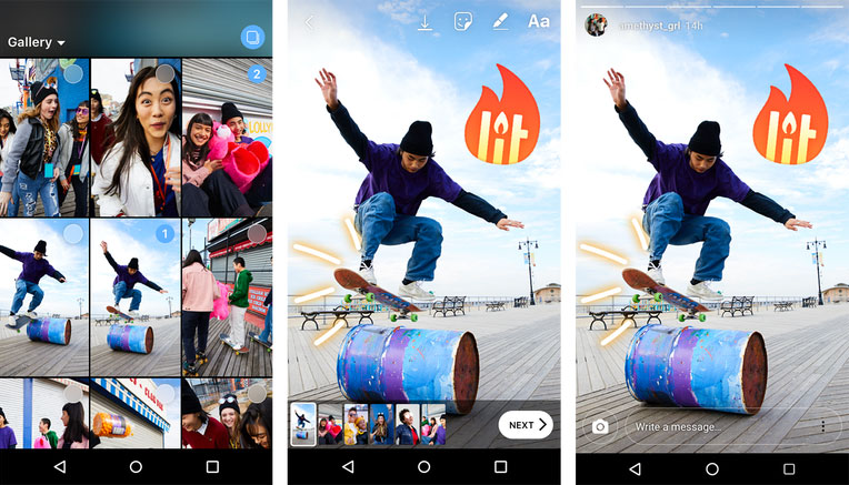 how to add multiple videos to instagram stories