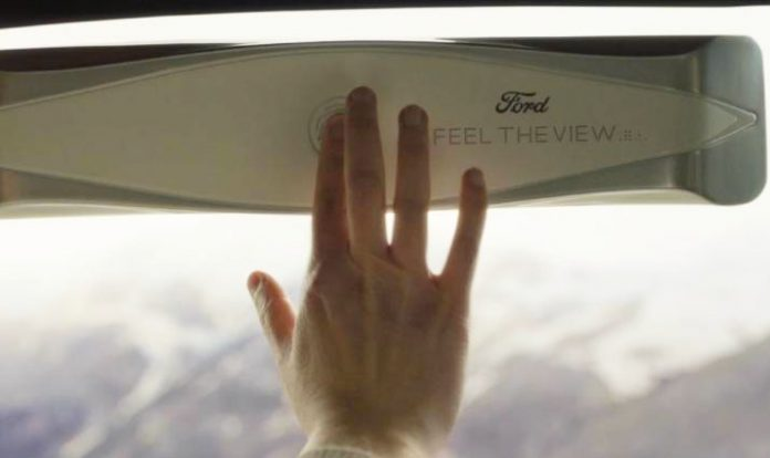 Ford's smart windows can help blind passengers take in the view