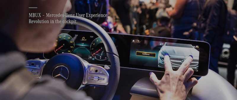 Mercedes benz 39 s new mbux system will feature wireless for Mercedes benz wireless headphones