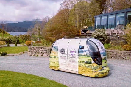 Driverless pods could be used to ferry tourists around a U.K. national park