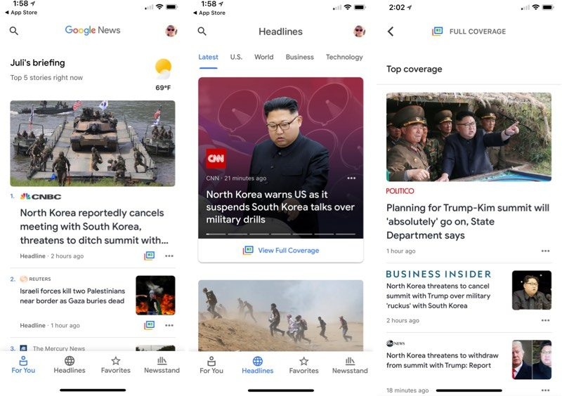 Google's Revamped News App Now Available on iOS Devices