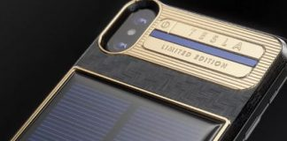 This $4,600 solar charger comes with an iPhone X attached