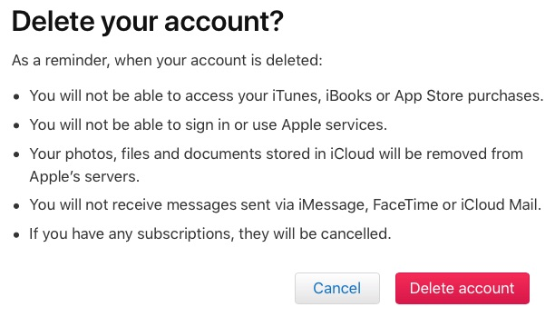 how to permanently delete a apple.id