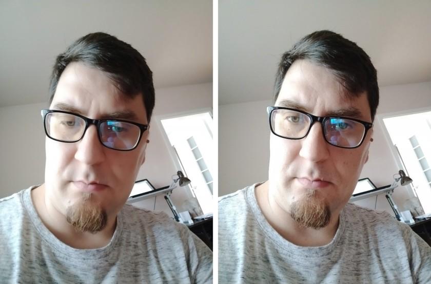 vivo x21 ud beauty mode comparison